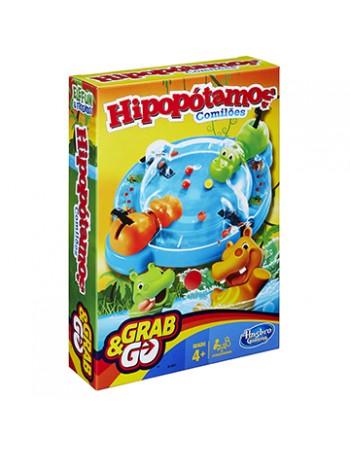 JOGO HASBRO GAMING HIPOPÓTAMOS COMILÕES GRAB & GO