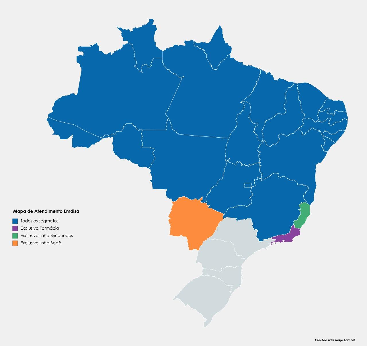 Mapa de Atendimento